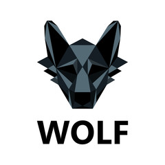 Wolf as logo design. Illustration logo design wolf on a white background