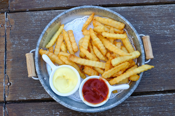 French fries , food, potatoes