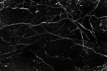 Texture of nature black marble with white curly abstract in seamless patterns for background