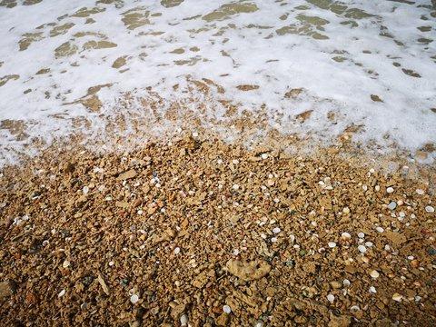 Ocean Waves on the Rocky Sand