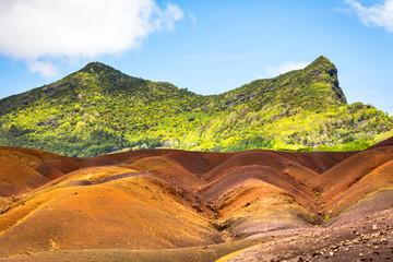 seven colored earth, chamarel, mauritius island, indian ocean