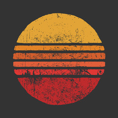 SUN Vintage Circle IllustrationsBasic RGB