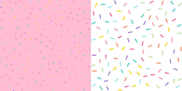 Seamless Colorful confetti sprinkle pattern wallpaper background. Vector illustration.