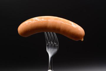 Bockwurst, Brühwurst auf Gabel
