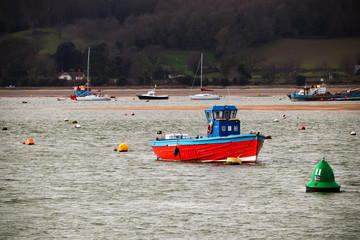 Exmouth harbour in Devon