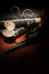 Vintage Still Life With Revolver