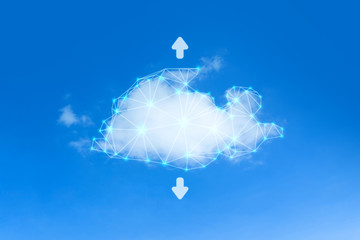 Wall Mural - Cloud network