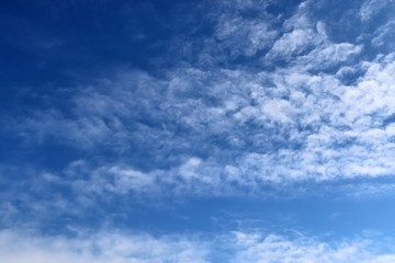 Cirrus clouds on a blue sky photographed in northern germany