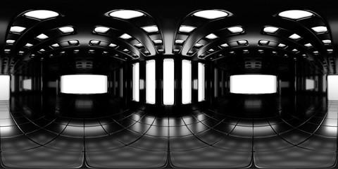 Obraz 8K HDRI map, spherical environment panorama background, modern high contrast interior light source rendering (3d equirectangular rendering) - fototapety do salonu