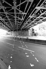 underside of railway bridge