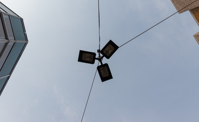 electric lamps in the sky