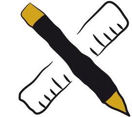 linijka i ołówek