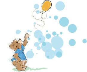 Bear Cub Loses his Balloon