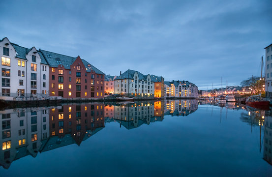 City of Alesund in middle Norway, Scandinavia,