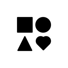 square, circle, triangle, heart icon. Signs and symbols can be used for web, logo, mobile app, UI, UX