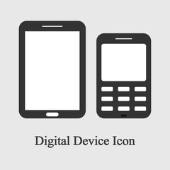 Mobile phone, cellphone with 4g lte sign isolated on background. Smartphone technology. Digital device icon. Vector flat design