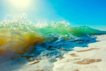 Splash of sea wave