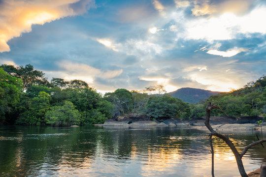 Corocoro river, Yutaje Amazona basin. Venezuela