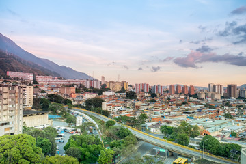 View of Caracas city from east side. Venezuela