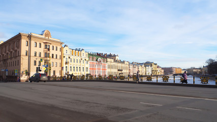 Panorama of St. Petersburg on a Sunny spring day.