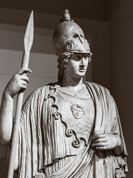 The statue of the ancient Greek goddess of wisdom, Athena