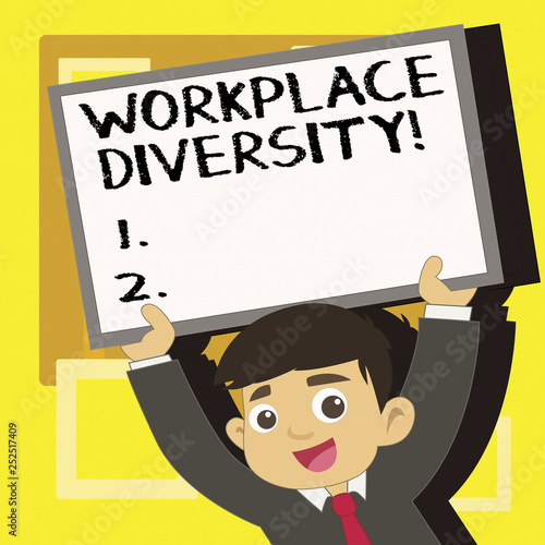 Diversity Meaning Workplace >> Handwriting Text Writing Workplace Diversity Concept