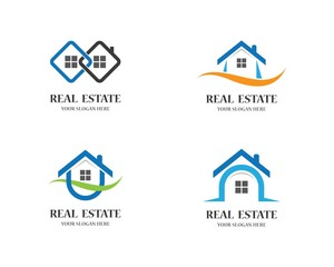 Real estate logo icon illustration