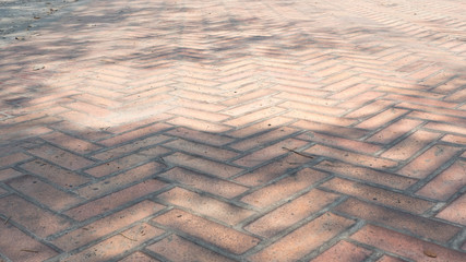 Wall Mural - view  Brick floor on The Ground for Street Road. Sidewalk,Driveway,Vintage Design Flooring Square Pattern Texture Background