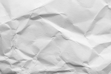 Sheet of crumpled paper as background. Space for design