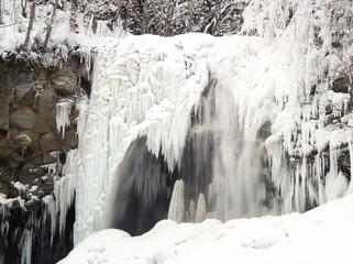 厳冬の滝野すずらん公園