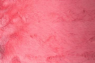 Aluminium Prints Macro photography Close up of a pink Artificial fur pink