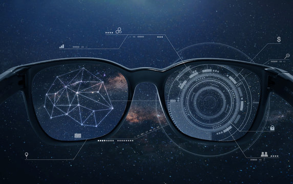 Smart glasses, VR virtual reality, and AR augmented reality technology