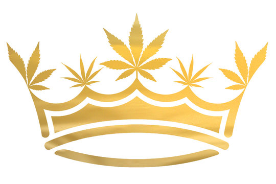 Gold Metallic Marijuana / Cannabis Leaf Crown