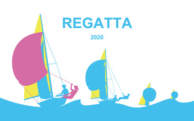 Poster with regatta theme