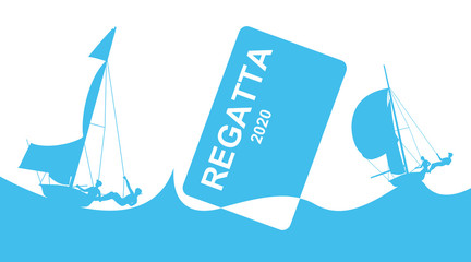 Poster with regatta theme