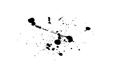 Abstract black watercolor paint splash background. black watercolor splash isolated on white