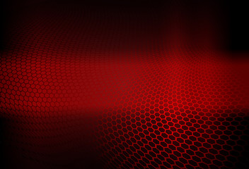 Red dark abstract geometric design with lattice silhouette