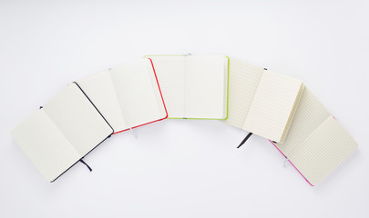 paper notebook at white background