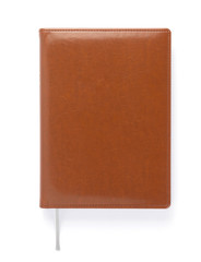 notebook at white paper background