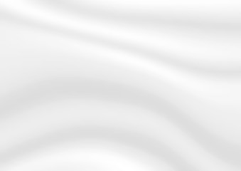 Abstract white vector background. Satin luxury cloth texture. Smooth elegant silk