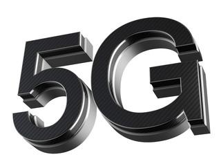 5G wireless cellular network speed metallic modern symbol