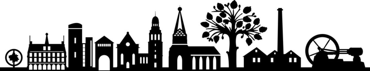 Fototapete - Bocholt City Skyline