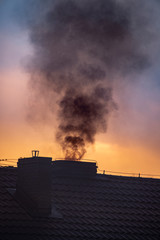 Fototapeta dym z komina obraz