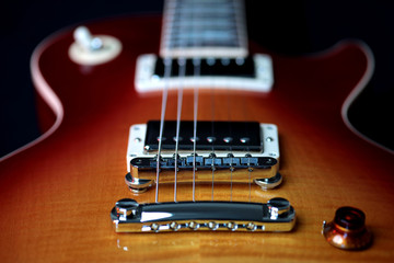 Electric Guitar Bridge Pick Up, Tailpiece and Strings