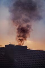Fototapeta dym z komina