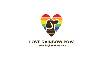 Love Rainbow Pow