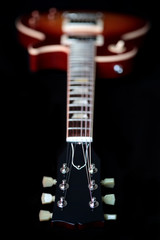 Headstock, Neck and Body of Les Paul Electric Guitar