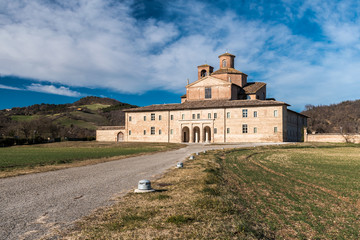 """The """"Barco Ducale"""" of Urbania (Pesaro-Urbino province), an old noble hunting palace belonged to the Montefeltro duke"""
