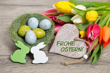 Osterkarte-Frohe Ostern