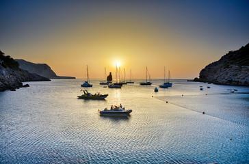 Ibiza - Cala Benirrás with evening atmosphere
